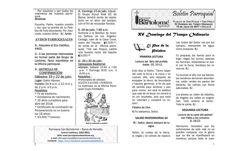 Boletín 16 de Julio