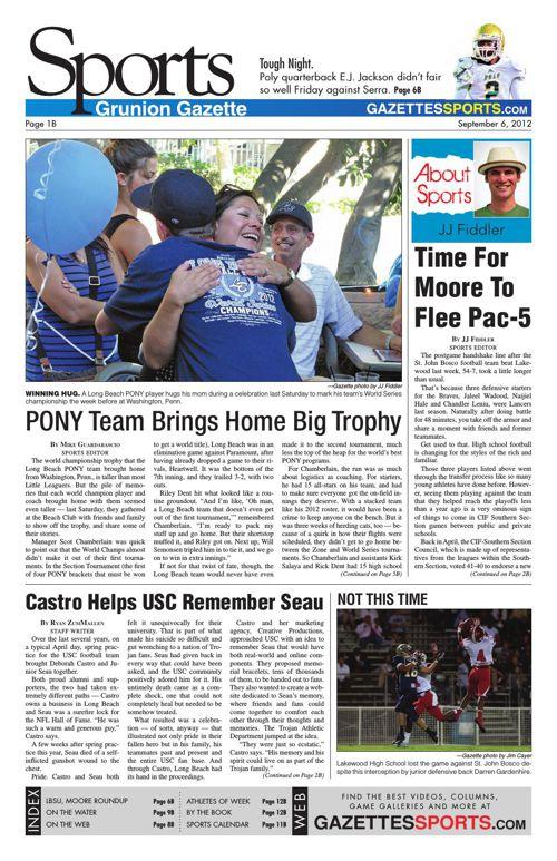 Gazette Sports | September 6, 2012