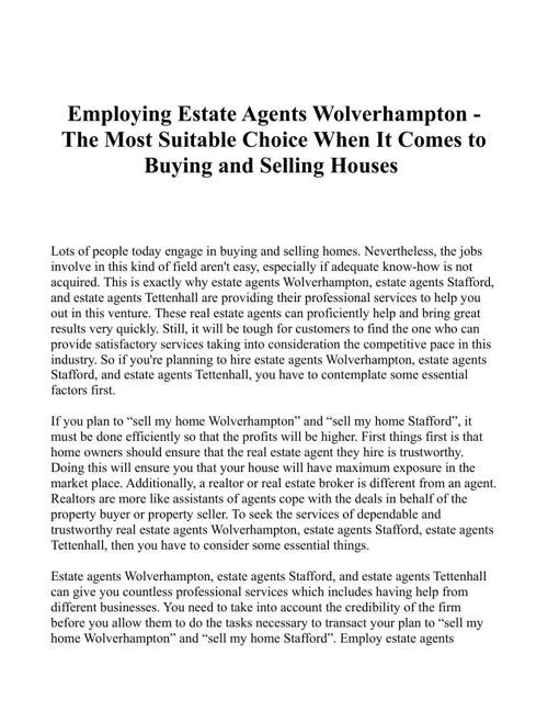 estate agents stafford