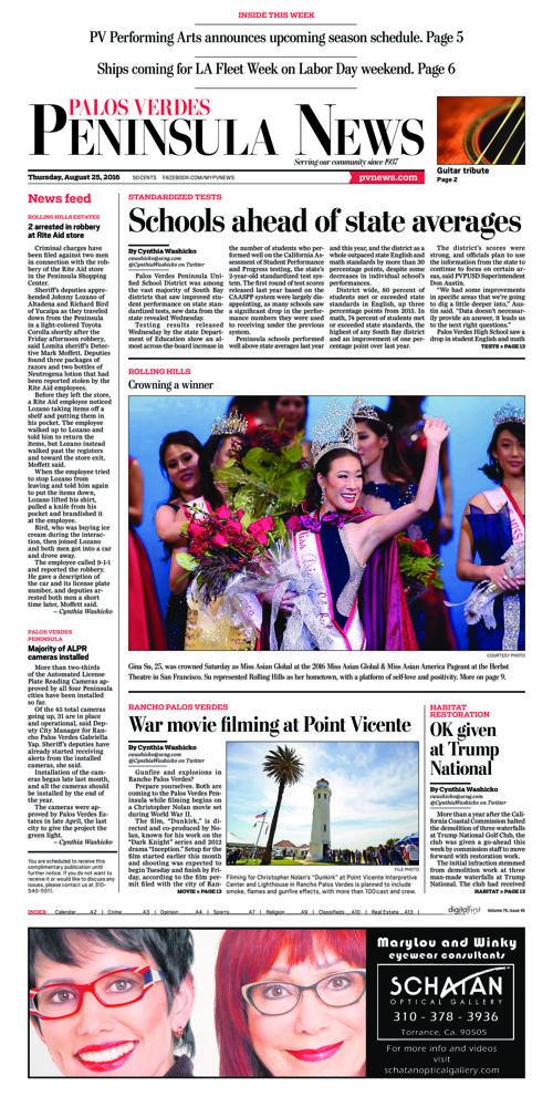 Peninsula News | August 25, 2016