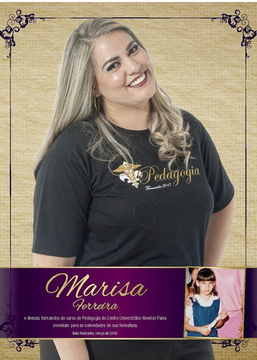 Convite de Formatura de Marisa Ferreira
