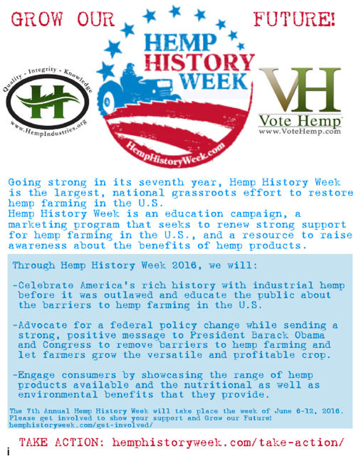 HEMP HISTORY WEEK SPONSORSHIP PROPOSAL