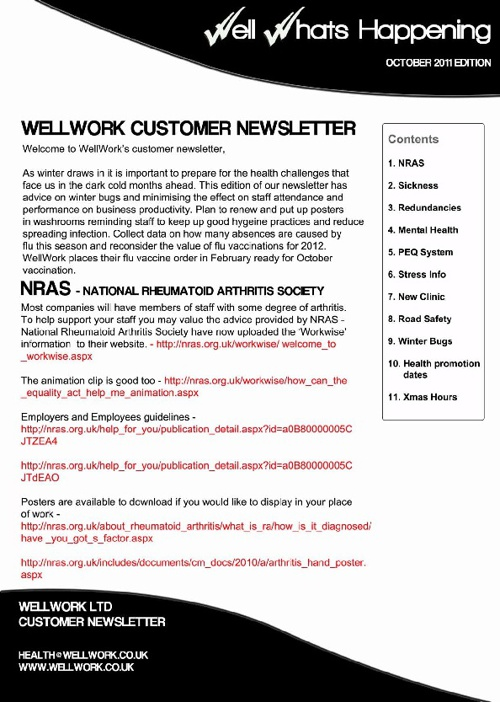 WellWork Newsletter November