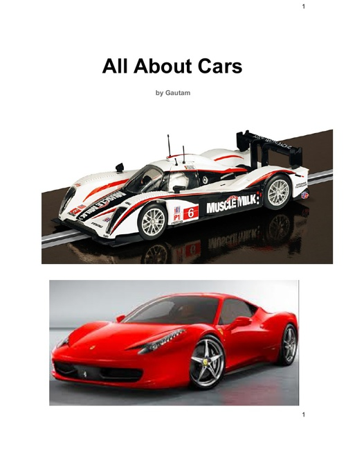 All About Cars by Gautam