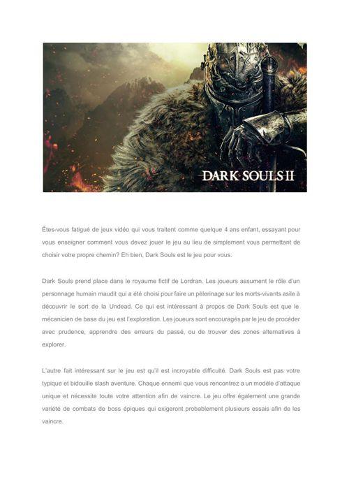 [Fr]Dark Souls – a challenge not a game