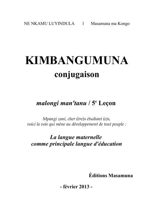 COURS DE LA LANGUE KIKONGO