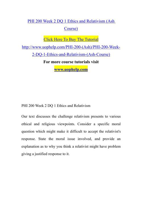 challenges to the relativist position