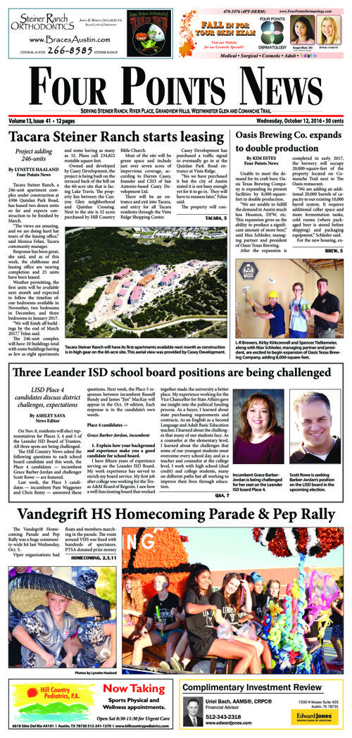 Four Points News October 12 2016