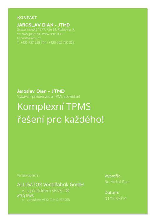 Komplexní TPMS řešení pro každého část 1