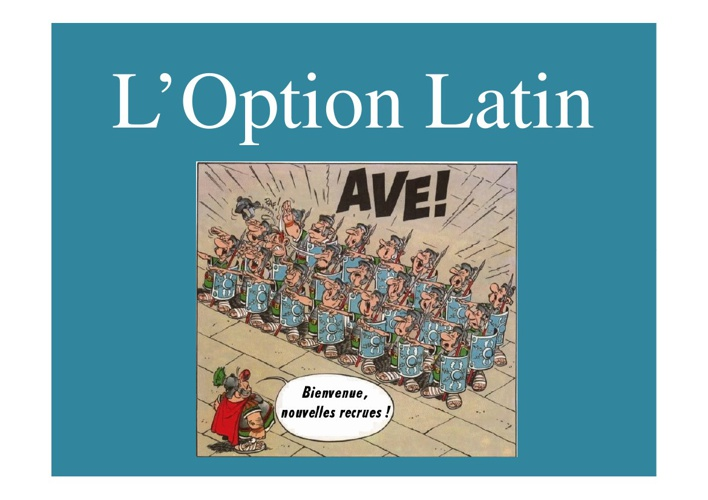 L'option Latin