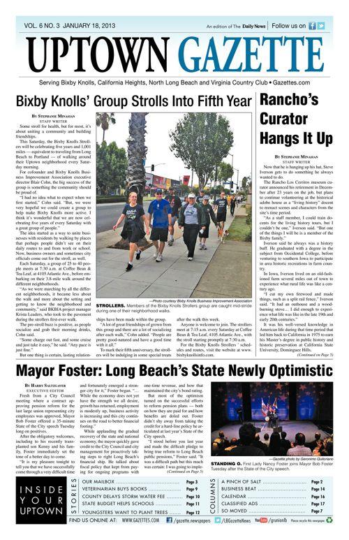 Uptown Gazette  |  January 18, 2013