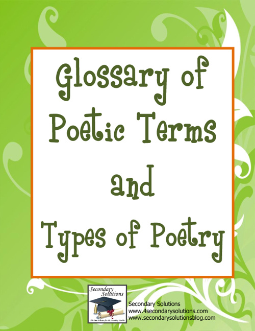 Glossary of Poetic Terms and Types of Poetry