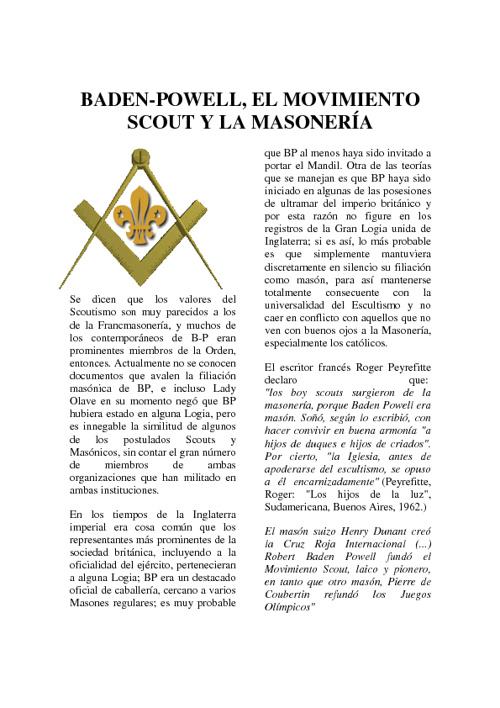 Copy of ORIGENES DEL ESCULTISMO Y LA MASONERIA