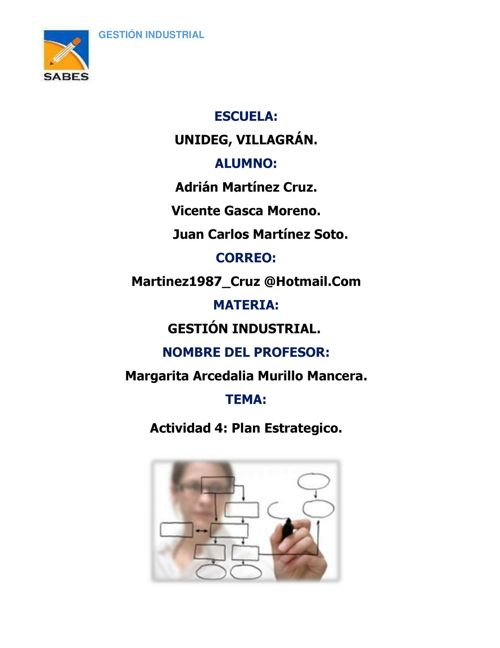 Actividad 4  Plan Estrategico Adrian Martinez Cruz