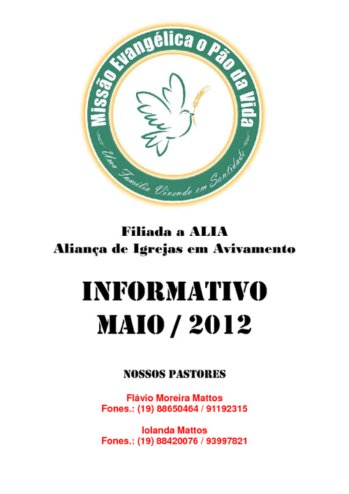 Informativo Maio de 2012