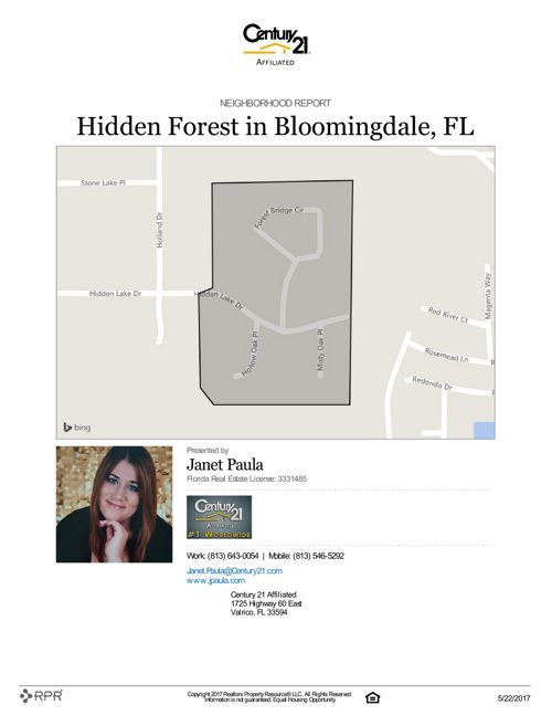 Neighborhood Report for Hidden Forest