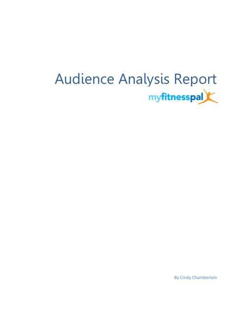 Audience Analysis Report