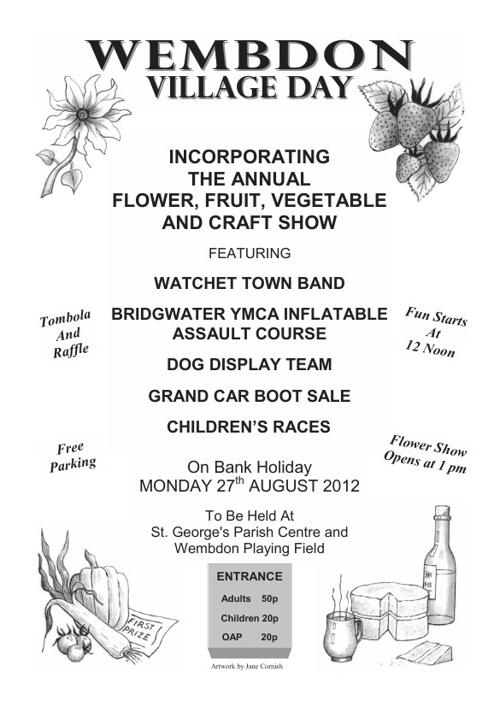 Wembdon Village Day 2012 Brochure