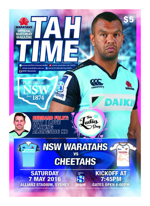 TAHS v CHEETAHS MATCH PROGRAM