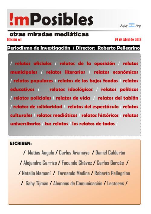 Semanario !mPosibles - Edición Nº 1