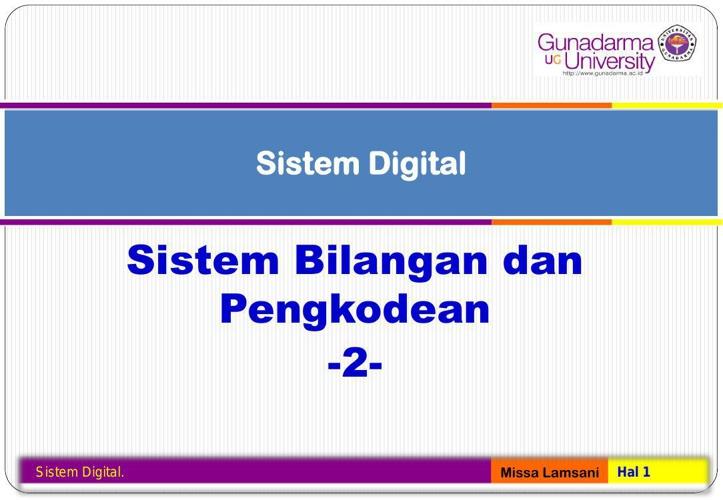 Sistem Digital - 2