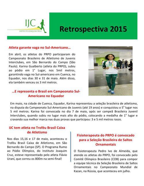 Retrospectiva IJC 2015