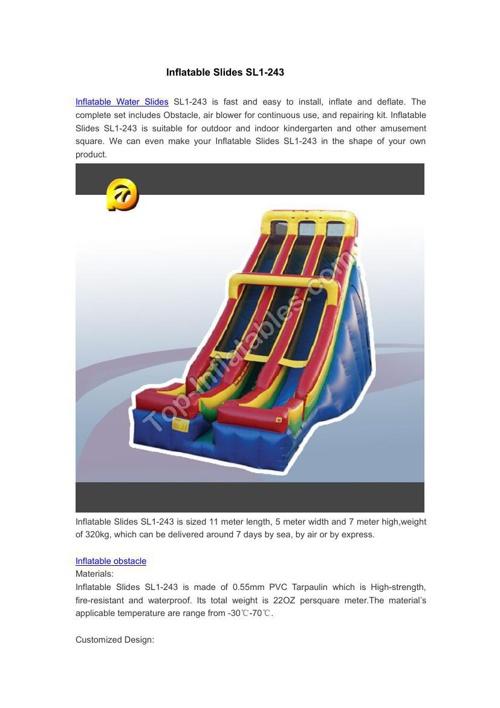 Inflatable Slides SL1-243