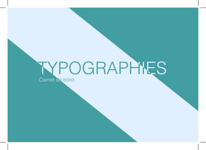 Typographies - Carnet typographique