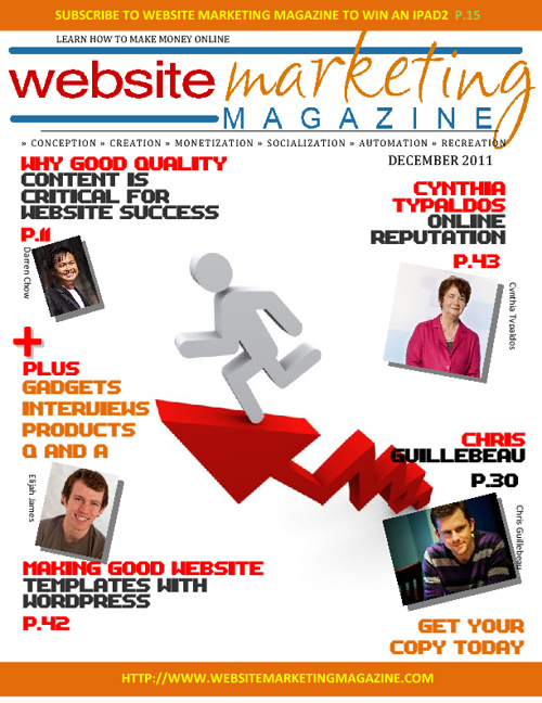 Website Marketing Magazine - December 2011