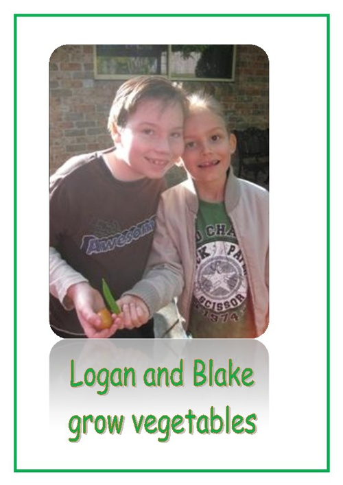 Logan and Blake grow vegetables