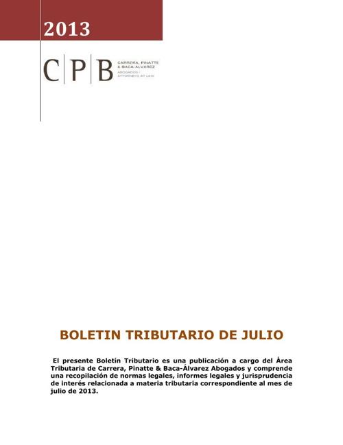 Boletin Tributario CPB