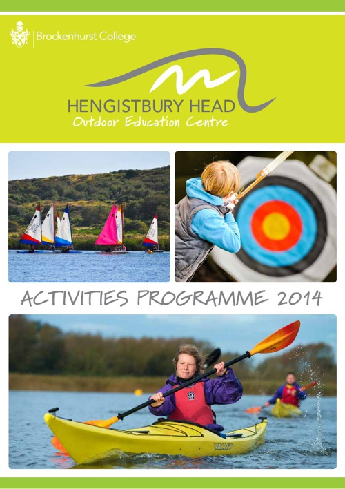 Hengistbury Head Outdoor Centre Brochure 2014