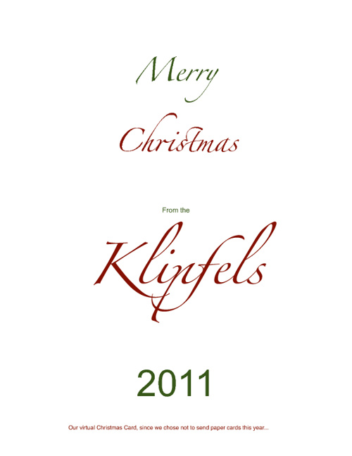 A Klipfel Merry Christmas 2011