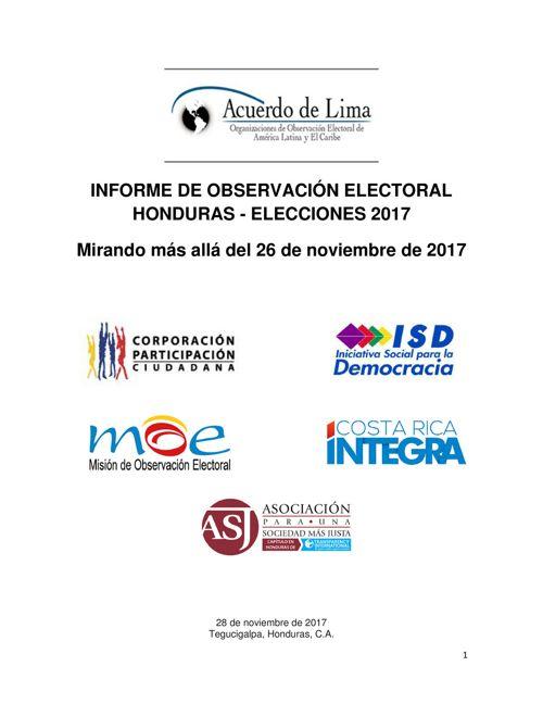 Acuerdo de Lima - Informe de Observación Electoral HN 2017
