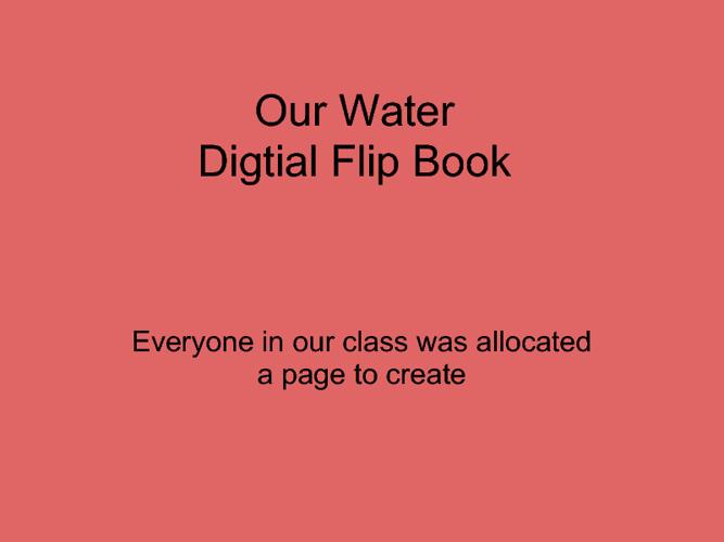 Water Flip Book