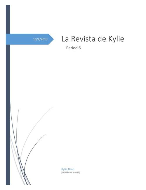 La Revista de Kylie