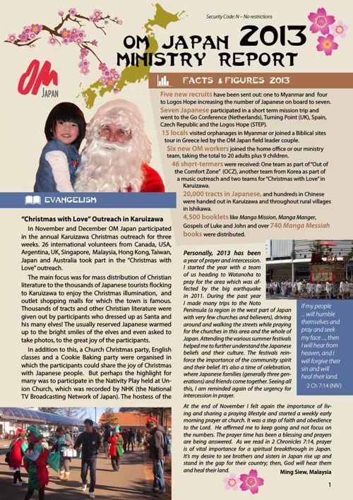Ministry Report OM Japan 2013