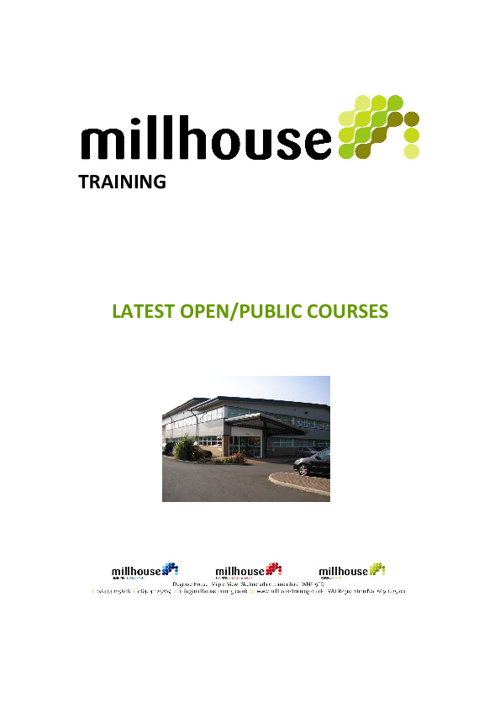 Millhouse Training Ltd Upcoming Courses - November 2011