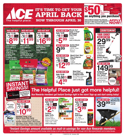 It's Time to Get Your April Back Now Through April 30!