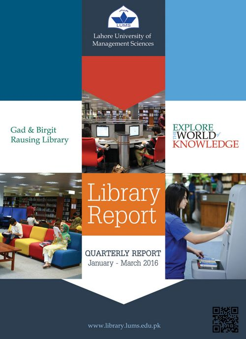 Library Quarterly Report (Jan-Mar)