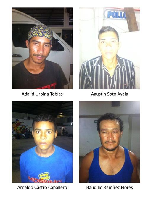 Fotos de hondureños identificados en el Centro de acopio de Choa