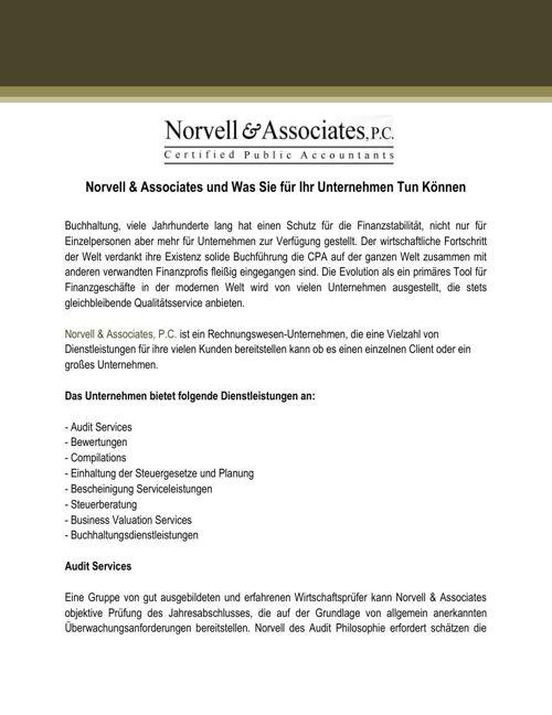 Welche Norvell & Associates Konnen fur Ihr Unternehmen Tun
