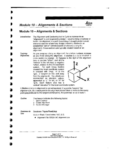 Module 10.0 - Alignments & Sections