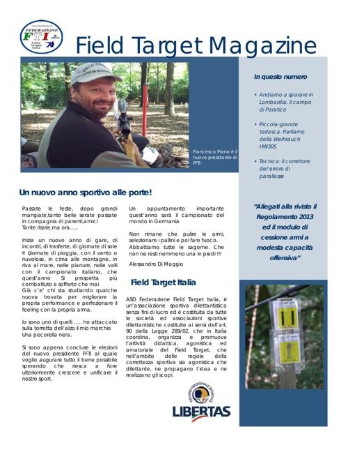 Field Target Magazine - Gennaio 2013