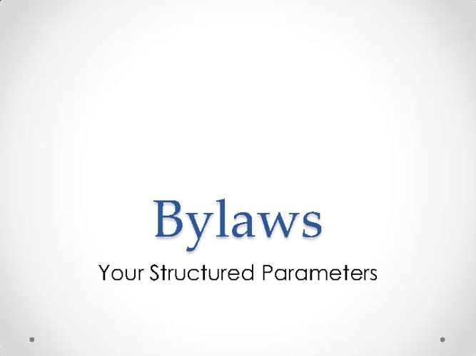 What are bylaws/standing rules?