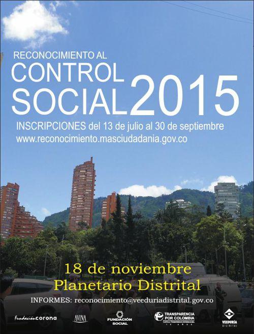 Reconocimiento Control Social 2015
