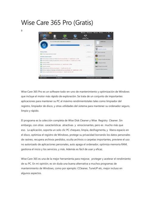 Wise Care 365 Pro (Gratis)