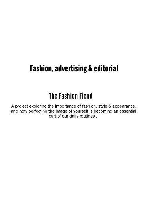 The Fashion Fiend - FAE presentation