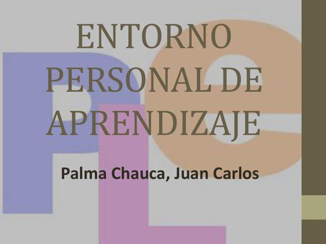 ENTORNO PERSONAL DE APRENDIZAJE -PLE