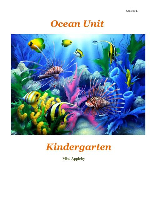 Ocean Unit Kindergarten